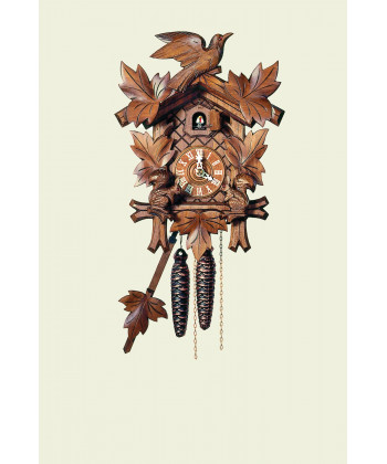 Orologio a cucù Foresta Nera 5 foglie