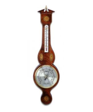 The Sheraton Banjo - Barometro aneroide da parete in legno