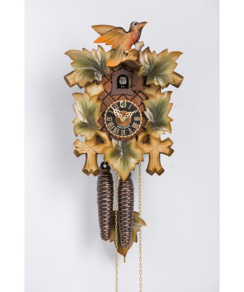 Black Forest cuckoo clock 5 leaves