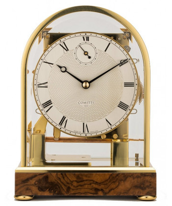 Tisch-Uhr aus Holz mechanisch