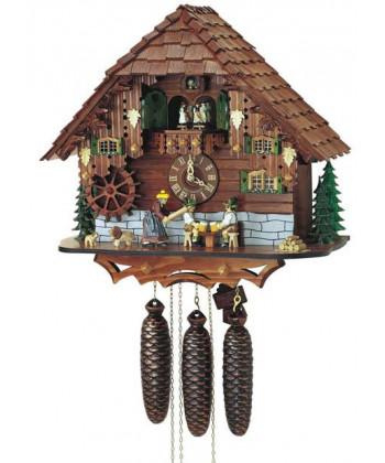 Orologio a cucù Foresta Nera a casetta con Carillon